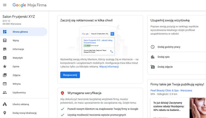 f58fc4fedaaf49 Jak stworzyć i zoptymalizować wizytówkę Google Moja Firma ...